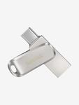 SanDIsk Ultra Dual Drive Luxe SDDDC4-256G-I35 256GB Type C Flash Drive (Silver)