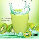Iveo 100 Percent Melamine Tumbler Green 2 Pcs Set