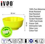 Iveo 100 Percent Melamine Veg Bowl L. Yellow 3 Pcs Set