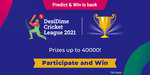 DesiDime Cricket League - 2021 - Prizes Upto Rs 40,000