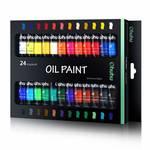 [LD] 24 Colors Oil Paint Set, Ohuhu Oil-based Colors, Artists Paints Oil Painting Set, 12ml x 24 Tubes