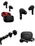BOULT AUDIO  Red & Black True Wireless AirBass FreePods Bluetooth Headset