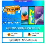Amazon Smartphone Upgrade Days:- Up to 40% Off + 10% instant discount on IndusInd Bank Cards Till 15 April