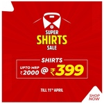 Brand Factory Super Shirt Sale Shirts At 399 Mrp Upto 2000