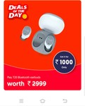 Magicpin : Play T20 Blutooth earbuds worth 2999 at 1000 Only ( Rs 99 For voucher purchase)