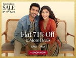 Myntra Flat 71% Off & More Deal ( valid 5pm-7pm )
