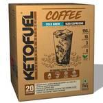 Ketofuel® Coffee Cold Brew (Iced Espresso) MCT Keto Coffee Powder w/Coconut MCT Oil 20 packs upto 20%off