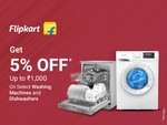 Exclusive offers on Flipkart Washing Machines and Dishwashers with myntra insider points  - 5 % off up to ₹1000