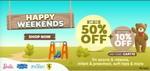 Hamleys Happy Weekend Sale Upto 50% Off + Additional 10% Off