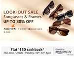 Look Out Sale On Sunglasses & Frames | Up To 80% Off | Extra 150 CB on 2000+