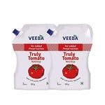 Veeba Truly Tomato Ketchup - No Added preservatives, 900g - Pack of 2