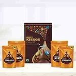 Hershey's Kisses Chocolate Gift Tin Pack Whole Almond, 266g