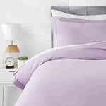 LOOT-  AmazonBasics Microfiber 2-Piece Quilt/Duvet/Comforter Cover Set - Single (66x90-inch), Frosted Lavender - with pillow cover