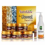 NUTRIGLOW 3-IN-1 Jewel Facial Kit With Skin Whitening Moisturizer