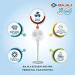 Bajaj Esteem400 mm Pedestal Fan (White) by Bajaj