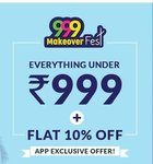 999 makeover fest everything under 999+ Extra 10% off