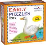 Creative's Early Puzzles Step II, Domestic Animals, Multi Color @61.