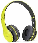 Buddymate P47 Portable & Foldable Over-Ear Bluetooth Headphone with 15 Hours Standing Time,Soft Cushions,Deep Bass & SD/AUX/FM Support for All Devices (Green) apply save 10% coupon and get it in only 404₹