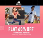 Adidas Sale Flat 60% off on Selected Merchandise | Offer Ends Midnight