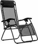 AmazonBasics Zero Gravity Reclining Lounge Portable Chair, Black