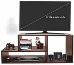 super deal Klaxon Diamond Wooden TV Stand (Matte Finish, Walnut)@1380