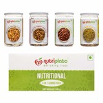 Nutriplato-enriching lives Dry Fruit Combo Pack - Roasted Almonds, Roasted Cashews, Tangy Peanuts, Roasted Sunflower Seeds, 345 g