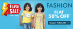 FIrstcry Flash Sale- Flat 50% OFF* on select Fashion Range