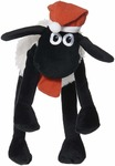 Shaun The Sheep Soft Toy with Hat and Scarf,, Hug and Feel Soft Toy, Multicolour, Official Merchandise, Age Group: 3+