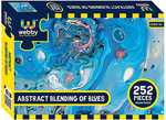 Webby Abstract Blending of Blues Jigsaw Puzzle, 252 Pieces @ 103