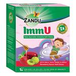 Zandu ImmU Tasty Ayurvedic Immunity Soft Chews, Strawberry Flavour - 60 Soft Chews (Jellies)