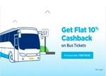 Paytm Bus Booking : Get 10% Cashback Upto 300 No min Booking Code : FIRSTRIDE