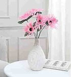 Fourwalls Artificial Mini Chrysanthemum Flower Bunches (40 cm Tall, 6 branches, Pink)