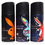 Playboy Combo Pack London, Miami and New York Deodorant Body Spray at Rs 364/-