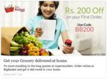 Get Rs.200 Off  on Rs. 1000 on Groceries, Vegetables etc. @ Bigbasket.com