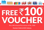 Buy grocery item with 100 off on 500 at http://www.cost-club.com/, Mumbai, New Delhi & NCR, Kolkata