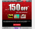 Get flat ₹150 Off* on bookmyshow