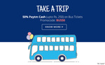 Get 50% Paytm cash on Bus Tickets