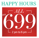 Everything at flat 699: Happy Hours Sale at trendin.com