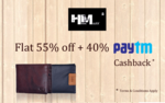 Hidemaxx Super Sale !!! Flat 55% OFF + 40% Cashback @ Paytm