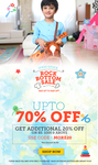 Upto 70% off + extra 20% off on minimum purchase of Rs.1000