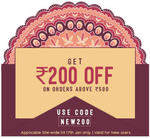 Get Rs.200 off on Rs.500 (New users only)