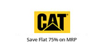 Save 75% on MRP on CAT branded clothing{75% cashback}