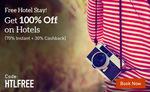 MakeMyTrip - 100% off on Hotels (70% Instant & 30% Cashback)