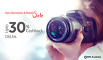 Dslr cameras Flat 30% Cashback PayTM on Canon and Nikon
