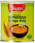 Swad Alphonso Mango Pulp Sweetened, 850g- Rs  100  [ 50 %  off   ] @ amazon