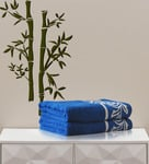 Flat 57% Off, Eurospa Blue Cotton Towel Set for Rs. 819 - Pepperfry.com