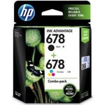 HP 678 Combo Pack - Black & Tricolor Ink Cartridge ||Amazon