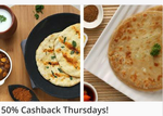 50% Cashback on All Orders of Faasos
