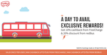 Get 10% Cashback from Freecharge & 20% Discount from Redbus
