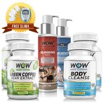 Wow Green Coffee with Wow Body Cleanse, Wow Hair Vanish and Wow Slimming Gel Value Pack (Pack of 6) with free Massager@3999 [MRP:- 17975]